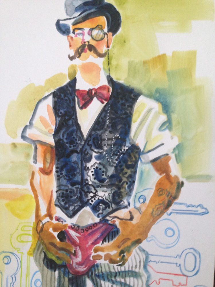 Steampunk Fashion Sketching at The National Arts Club