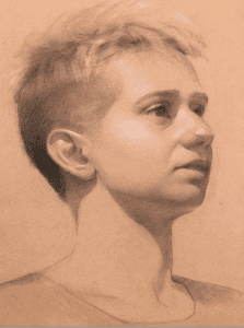 Kelly Foss Elay Portrait Drawing