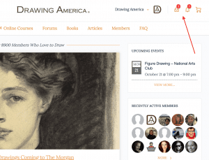 Drawing America How To Check Your Messages