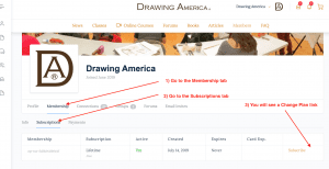Upgrade Drawing America Membership