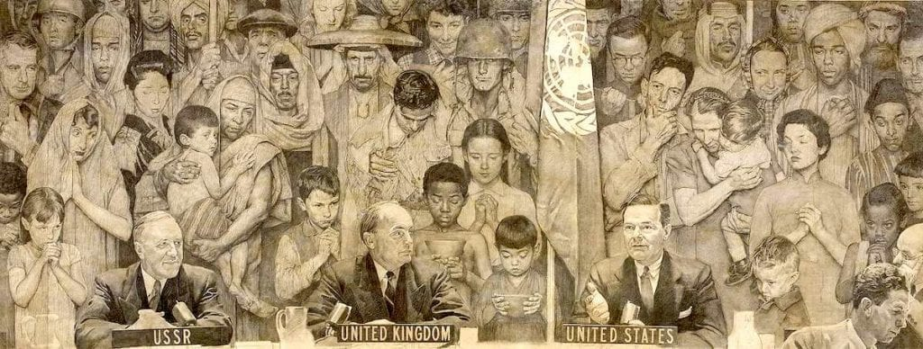 United Nations Norman Rockwell