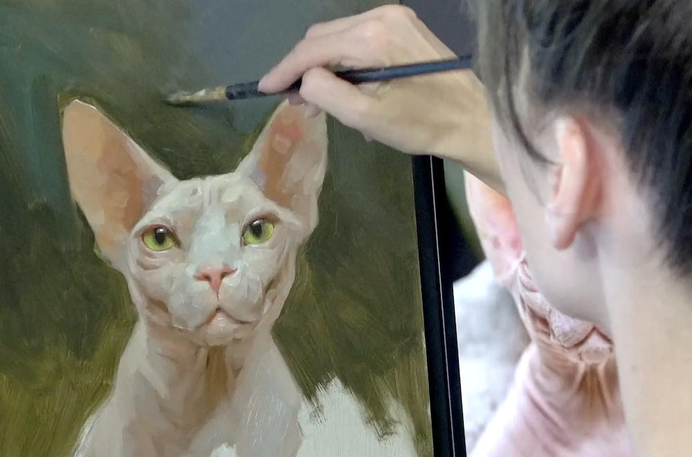 Jennifer Gennari Paints The Sphinx Cat